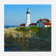Portland Head Light Tile Coaster