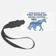 Unicorns Support Eating Disorder Luggage Tag
