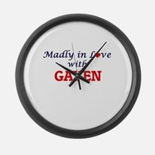 Madly in love with Gaven Large Wall Clock