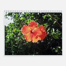 Hawaiian Flowers Wall Calendar