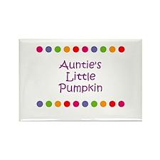 Auntie's Little Pumpkin Rectangle Magnet