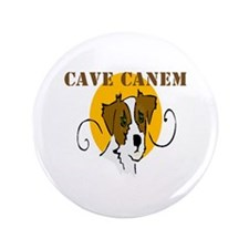 """Cave Canem (Jack Russell) 3.5"""" Button (100 pack)"""