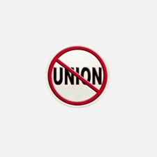 Anti-Union Mini Button