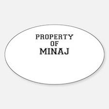 Property of MINAJ Decal