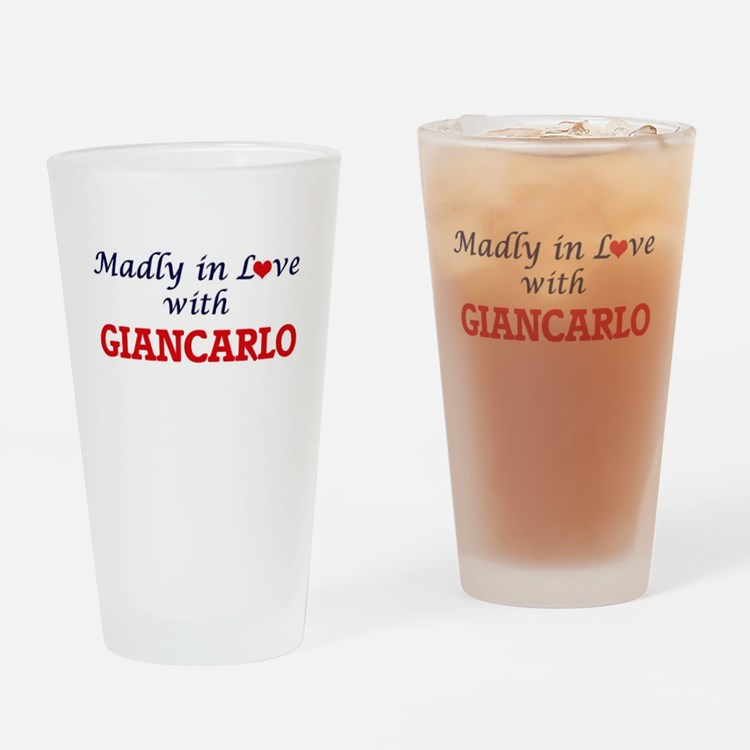 Madly in love with Giancarlo Drinking Glass