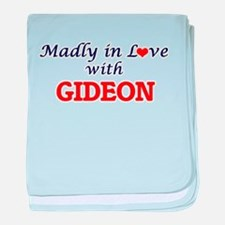 Madly in love with Gideon baby blanket