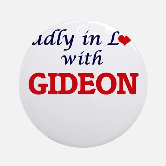 Madly in love with Gideon Round Ornament