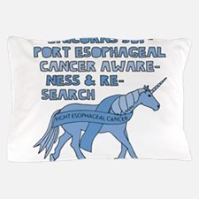Unicorns Support Esophageal Cancer Awa Pillow Case