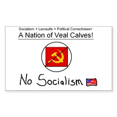 Nation of Veal Calves Rectangle Decal