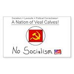 Nation of Veal Calves Rectangle Sticker