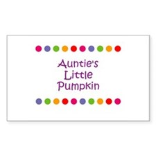 Auntie's Little Pumpkin Rectangle Decal
