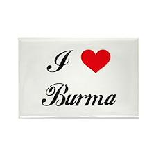 I Love Burma Rectangle Magnet