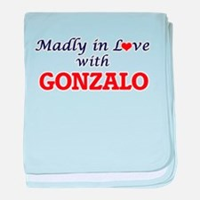 Madly in love with Gonzalo baby blanket