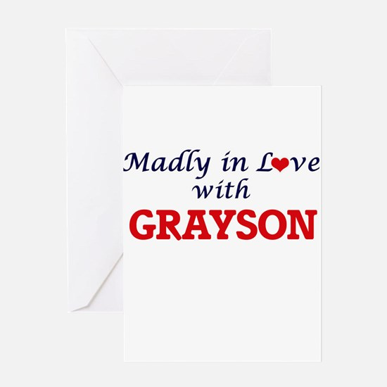 Madly in love with Grayson Greeting Cards