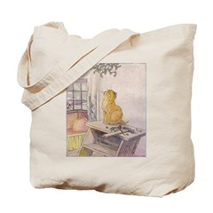 1927 Christmas Kitten 2 Tote Bag