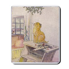 1927 Christmas Kitten 2 Mousepad