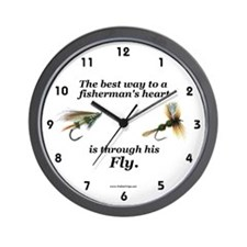 """The Way to a Fisherman's Heart"" Wall Clock"