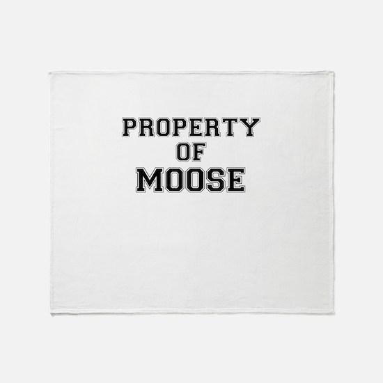 Property of MOOSE Throw Blanket