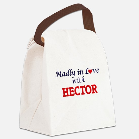 Madly in love with Hector Canvas Lunch Bag