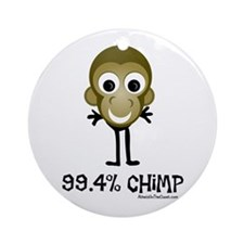 99.4% Chimp Ornament (Round)