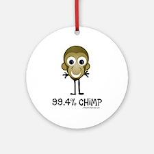 99.4% Chimp Ornament (Round)