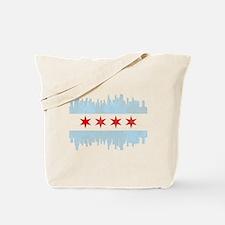 Funny Chicago flag Tote Bag