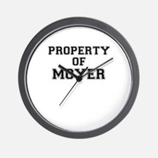 Property of MOYER Wall Clock