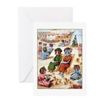 CATS AT THE BEACH Greeting Cards (Pk of 10)
