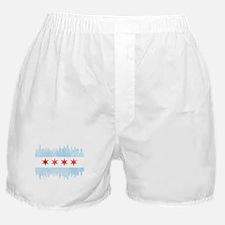Chicago Skyline Flag Boxer Shorts