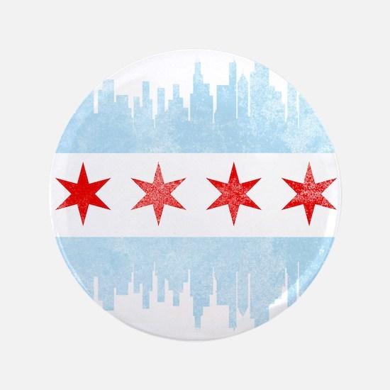 Chicago Skyline Flag Button