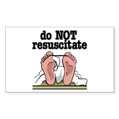 RESUSCITATE Rectangle Decal