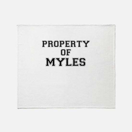 Property of MYLES Throw Blanket