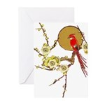 Bird and Blossom Blank Greeting Cards (Pk of 10)