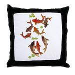 Chinese Carp/ Japanese Koi Fish Print Throw Pillow