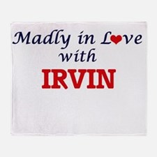 Madly in love with Irvin Throw Blanket