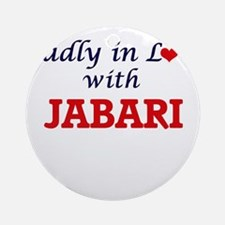 Madly in love with Jabari Round Ornament