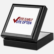 Vote Early Vote Often Keepsake Box