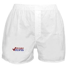 Vote Early Vote Often Boxer Shorts