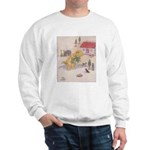 1927 Christmas Kitten 1 Sweatshirt