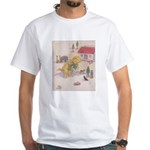 1927 Christmas Kitten 1 White T-Shirt