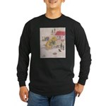1927 Christmas Kitten 1 Long Sleeve Dark T-Shirt