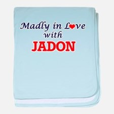 Madly in love with Jadon baby blanket