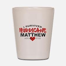 Hurricane Matthew Survivor October 2016 Shot Glass