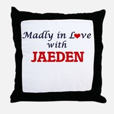 Madly in love with Jaeden Throw Pillow