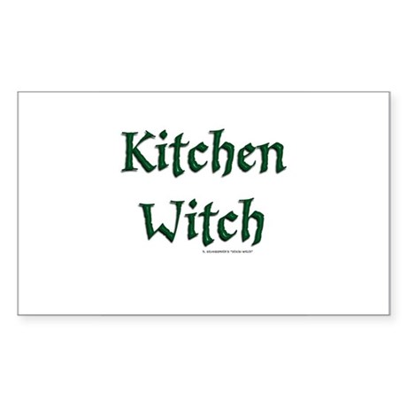 Kitchen Witch (Pagan/Wiccan Rectangle Sticker