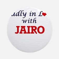 Madly in love with Jairo Round Ornament