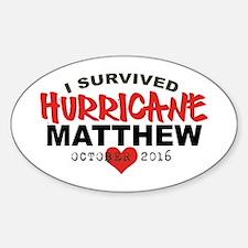 Hurricane Matthew Survivor October 2016 Decal
