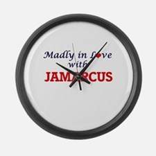 Madly in love with Jamarcus Large Wall Clock