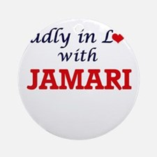 Madly in love with Jamari Round Ornament
