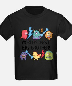 Monsters World's Best Big Brother T-Shirt